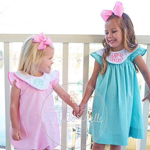 Boutique Girls Monogrammed Bishop Dress Pink Baby Easter Dress by Bentley & Belle