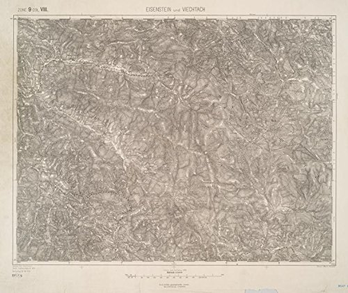 Historic 1903 Map | Eisenstein und Viechtach. | MapsAntique Vintage Map Reproduction by historic pictoric