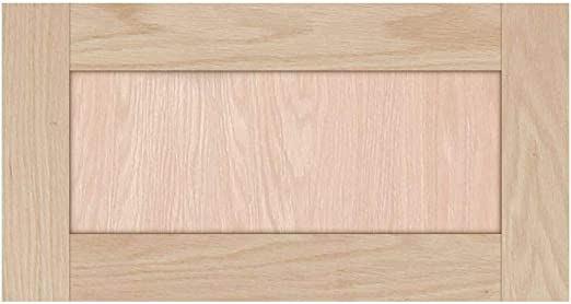 30H x 8W Unfinished Oak Square Flat Panel Cabinet Door by Kendor