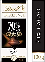 Lindt Excellence 70% Cacao Dark Chocolate, Bar, 100g