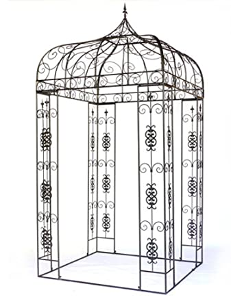 Gartenpavillon metall eckig  XXL Pavillon Creso Pergola Laube Gartenpavillon Metall eckig H 310 ...