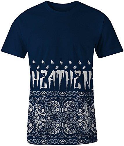 Heathen Bandana T-Shirt (X-Large, Navy)