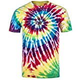 Magic River Handcrafted Tie Dye T Shirts - Rainbow - Adult Medium