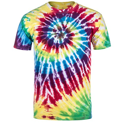 Magic River Handcrafted Tie Dye T Shirts - Rainbow - Adult Large