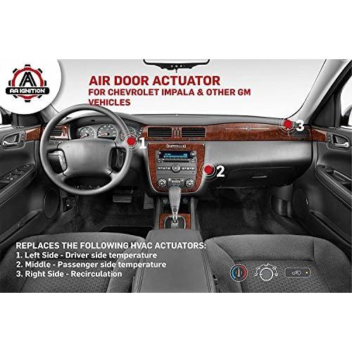 HVAC Air Blend Door Actuator 604-108 Fits Cadillac Buickand Pontiac models including Chevy Impala 2004 2005 2006 2007 2008 2009 2010 2011 2012 2013 Heater Temperature Blend Door Actuator chevrolet
