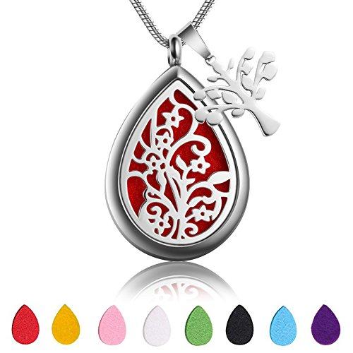 Teardrop Aromatherapy Essential Oil Diffuser Necklace Loc...