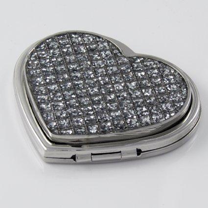 Diamante Heart Compact Mirror