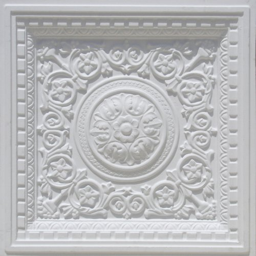 DIY Decorative White Matt #215 Plastic Ceiling Tiles FIRE Rated 24'x24',depth 1',3 Dimensional , Grid and Glue On,tape on to a Flat Smoot Surface with Overlaping Edges Discounted, Cheap. FIRE Rated.