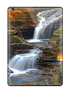 Durable Protector Case Cover With Watkin Glens State Parkny Earth Waterfall Nature Waterfall Hot Design For Ipad Air
