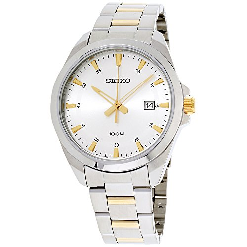 Seiko Silver Dial Stainless Steel Mens Watch SUR211 ()