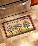 Faith Family Friends Welcome Mat Rug Front Door Entryway Country Home Decor