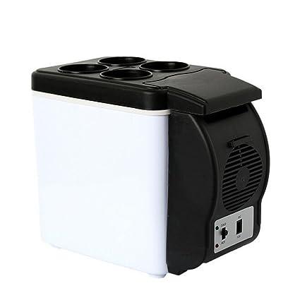 Amazon.es: Mini nevera portátil para coche, caja eléctrica de frío ...
