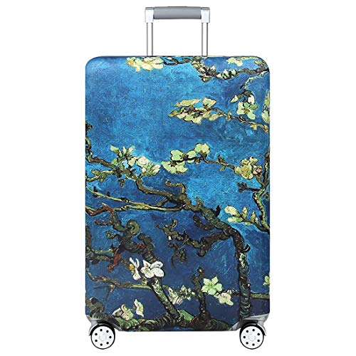 """Price comparison product image TRAVELKIN Thickened Luggage Cover 18 / 24 / 28 / 32 Inch Suitcase Spandex Protective Cover (M(22""""-24""""luggage),  Almond Blossom)"""