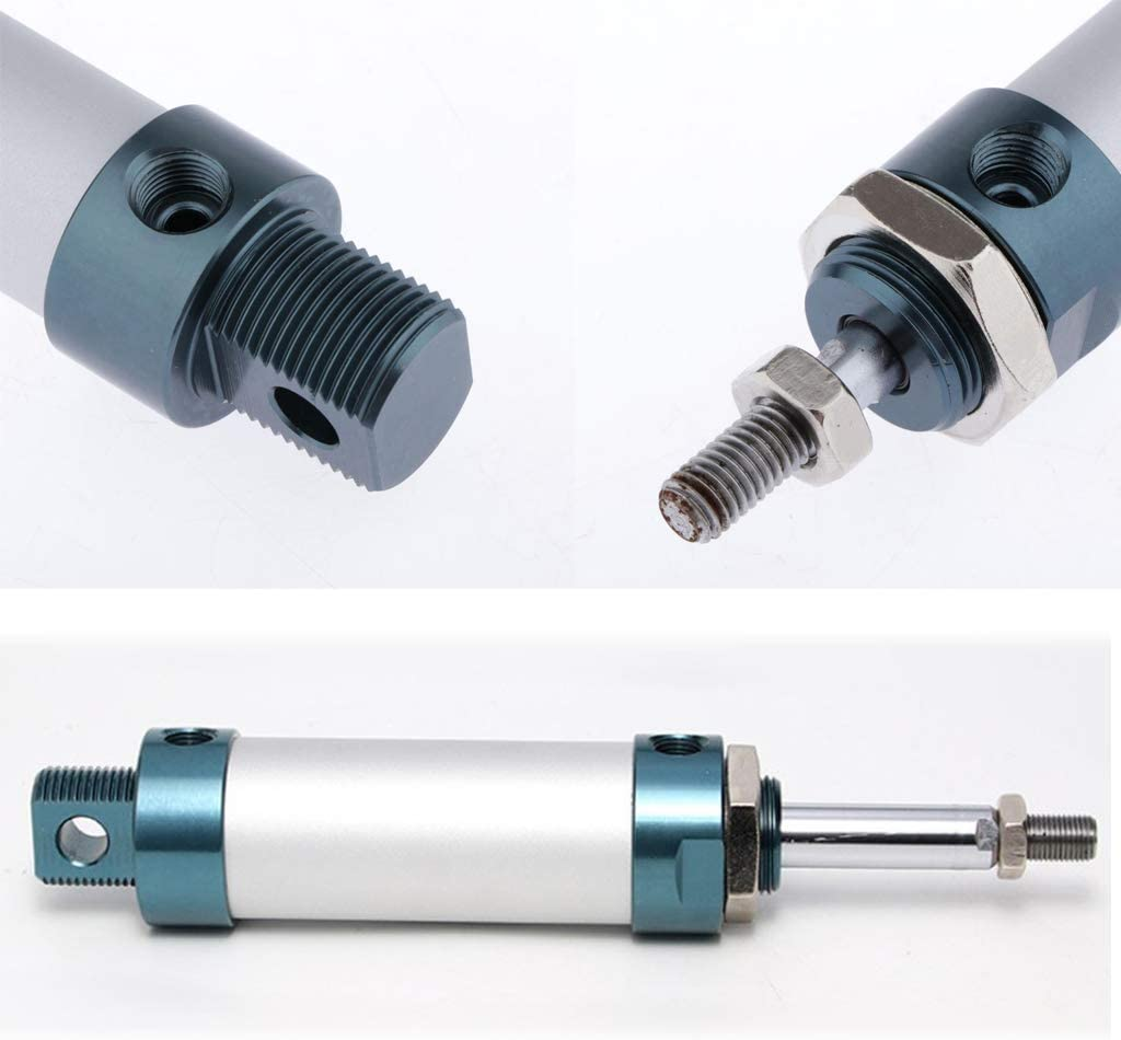 MAL 25x200mm kesoto Slim Luftzylinder Pneumatikzylinder Druckluftzylinder 25mm Bohrung mit Doppeltwirkendem aus Aluminiumlegierung