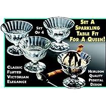 SET OF FOUR ICE CREAM CUPS - SET OF 4 ICE CREAM CUPS