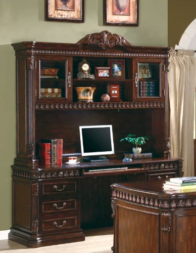 Rich Brown Computer Desk With Hutch Furniture On The Web 800801B-800801H