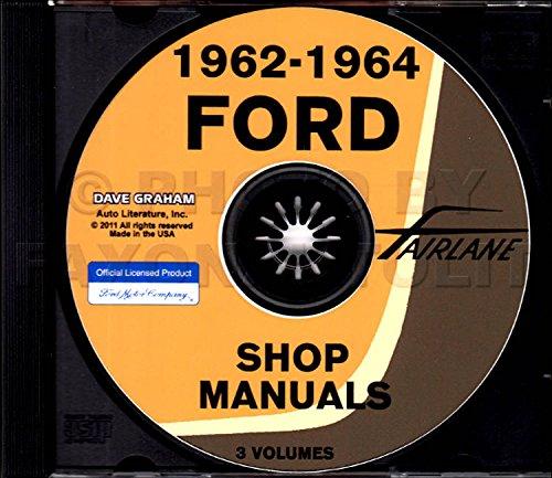 1962 1963 1964 ford fairlane factory repair shop & service manual -  including fairlane 500 and mercury meteor multimedia cd – unabridged, 2017