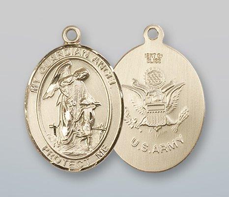 14 ktゴールドガーディアンエンジェル/ Army medal B008JL5QV0