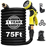 Aterod 75 feet Expandable Garden Hose, Extra Strength Fabric, Flexible Expanding Water Hose