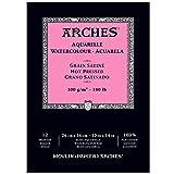 watercolor paper 140lb hot press - Arches 400014958 Watercolor Pad, Hot Press, 10
