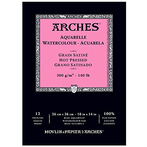 Arches Watercolor Pad, Hot Press, 10