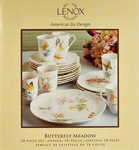091709499707 - Lenox Butterfly Meadow 18-Piece Dinnerware Set, Service for 6 carousel main 1