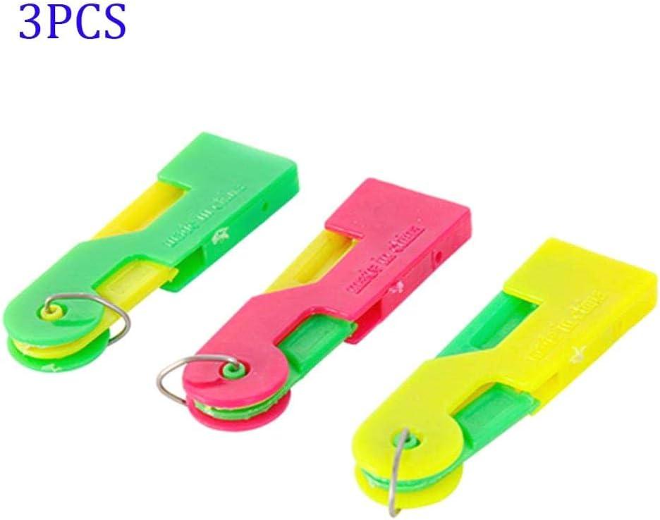 Dispositivo de Hilo de Aguja Enhebrador de Aguja automático Enhebrador de Aguja de Coser a Mano y máquina de Coser Aguja Fast Lead 3Pcs