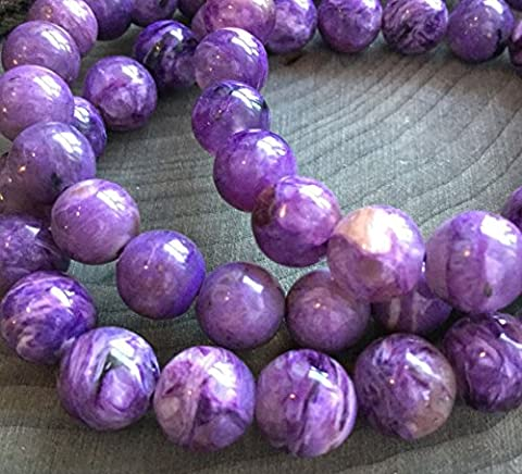 Top Quality Purple Charoite Crystal Gemstone 6mm Round Loose Beads 15.5