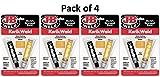 J-B Weld 8276 KwikWeld Quick Setting Steel Reinforced Epoxy - 2 oz, Pack of 4