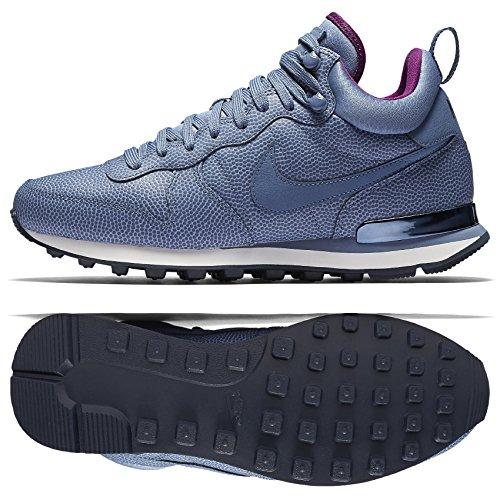 nike Womens Internationalist Mid Lthr Hi Top Trainers 859549 Sneakers Shoes (US 7, ocean fog obsidian 400) by NIKE