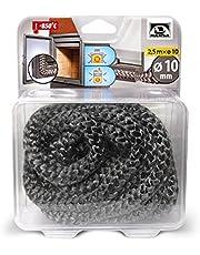 Hansa - Junta de cerámica para puerta de estufa, cuerda de fibra de vidrio/cuerda de sellado para estufa 850 'C