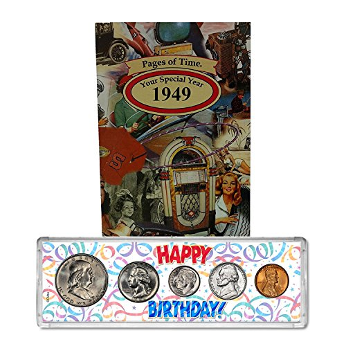 1949 Year Coin Set and Greeting Card : 69th Birthday - Happy Birthday