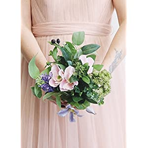 "Anemone and Lilac Artificial Bouquet in Pink Purple - 11"" Tall 21"