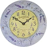 Roger Lascelles French Tin Wall Clock, Lavender Theme, 13.6-Inch For Sale