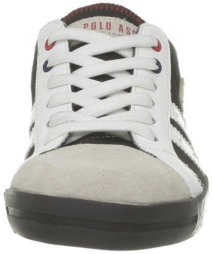 US Polo Assn - Zapatillas de deporte de tela para hombre Negro (Noir (Blk/Ice))