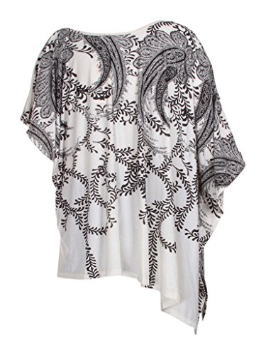 White Mia Damen Vine Print Black Kleid Suri q8fnaxHt