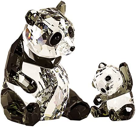 SWAROVSKI Figurine 5063690, Mother Panda with Baby
