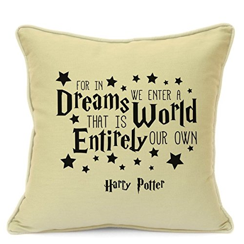 [Presents Gifts For Teens Kids Boys Girls Harry Potter Lovers Fans Birthday Christmas Xmas In Dreams We Enter A World Cushion Cover 18 Inch 45 Cm Home Decorations] (Dumbledore Costume Ideas)