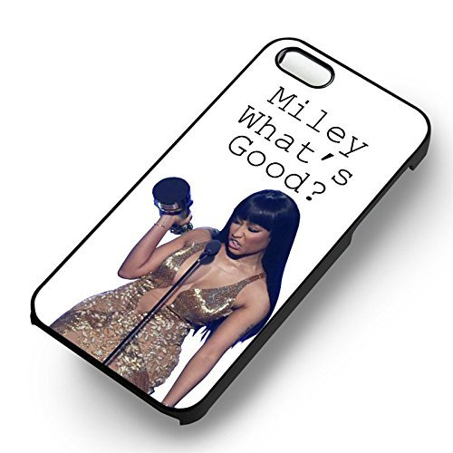 Minaj-Miley What's Good pour Coque Iphone 6 et Coque Iphone 6s Case (Noir Boîtier en plastique dur) Q8K4DU