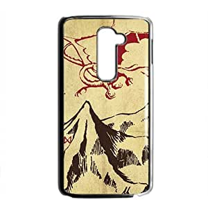 HRMB Unique mountain and red dinosaur Cell Phone Case for LG G2