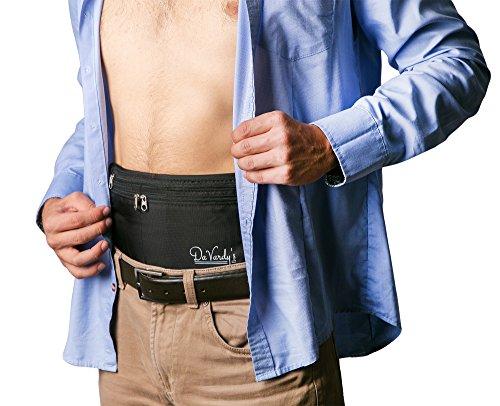 Sichere Reise-Bauchtasche von Da Vardy's mit RFID-Schutz aus wasserabweißendem Material