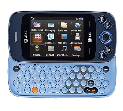 (LG GW370 ATT Neon II Blue Music Camera 3G GPS phone)