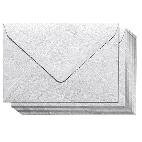 Mini Envelopes - 100-Pack Gift Card Envelopes, Business Card Pocket Envelopes Perfect for Invitations, Greeting Cards, Announcements, Floral Pattern, White, 4.3 x 3 inches