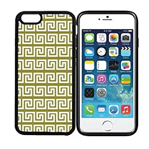 iPhone 6 (4.7 inch display) RCGrafix Greek Pattern - Pear - Designer BLACK Case - Fits Apple iPhone 6- Protected Cell Phone Cover PLUS Bonus Iphone Apps Business Productivity Review Guide