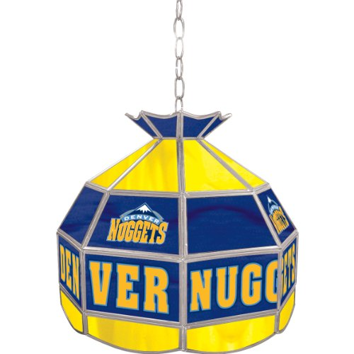 NBA Denver Nuggets Tiffany Gameroom Lamp, 16'' by Trademark Gameroom