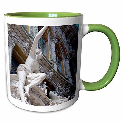 3dRose Danita Delimont - Ukraine - Ukraine, Odessa. Shopping mall, statue - AS43 CMI0210 - Cindy Miller Hopkins - 11oz Two-Tone Green Mug - Odessa Mall