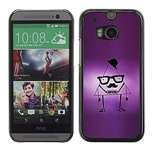 TECHCASE**Cubierta de la caja de protección la piel dura para el ** HTC One M8 ** Triangle Hipste Quote Moustache Style Funny