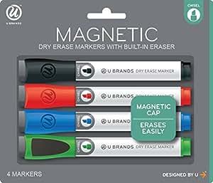 Amazon.com : U Brands Low Odor Magnetic Dry Erase Markers