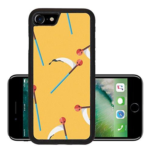 Harvest Chop - Luxlady Premium Apple iPhone 7 Aluminum Backplate Bumper Snap Case iPhone7 IMAGE ID: 39609352 Halloween scythe costume flat icon eps10 seamless pattern background