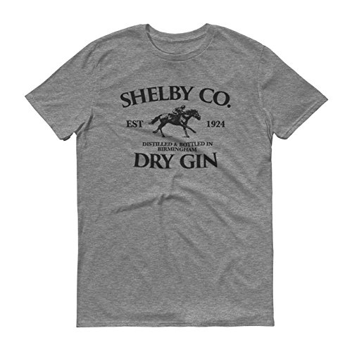 - Vintage Style Shelby Company Gin Inspired by Peaky Blinders Tshirt - Mens Short Sleeve Tshirt (M, Graphite)